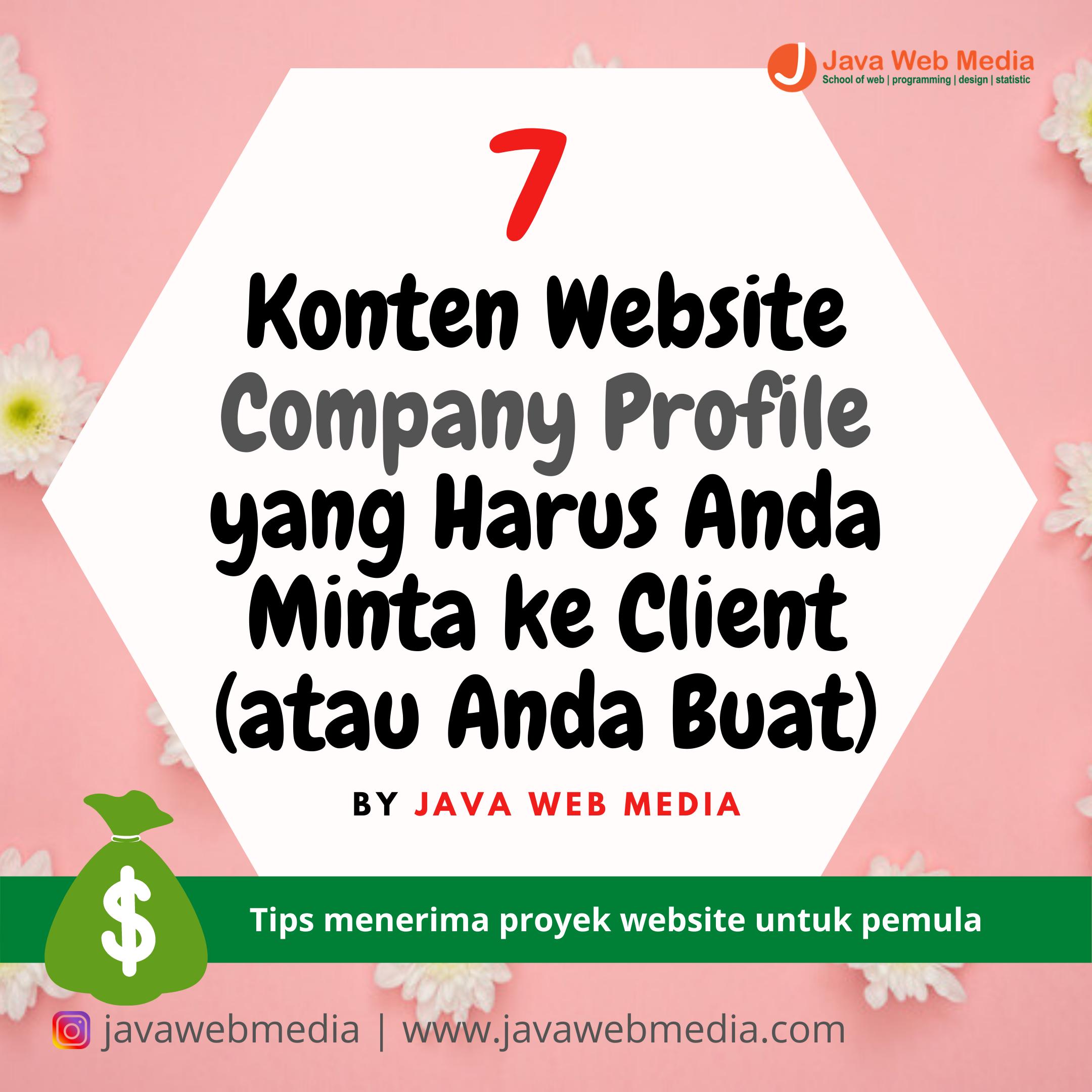 7  Konten Website Company Profile yang Harus Anda Minta ke Client (atau Anda Buat)